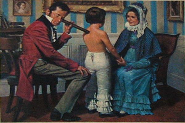 聴診器を使うラエンネック